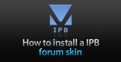 How to install IPB forum skin