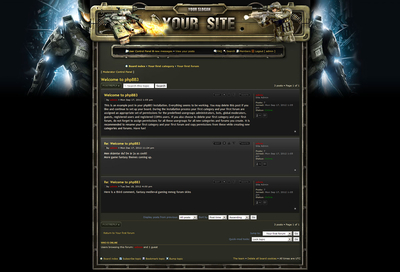 World War Skin phpBB