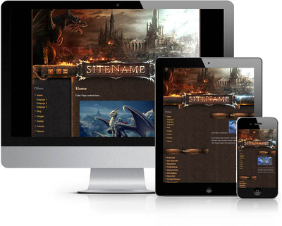 Dark Dragon Joomla Template