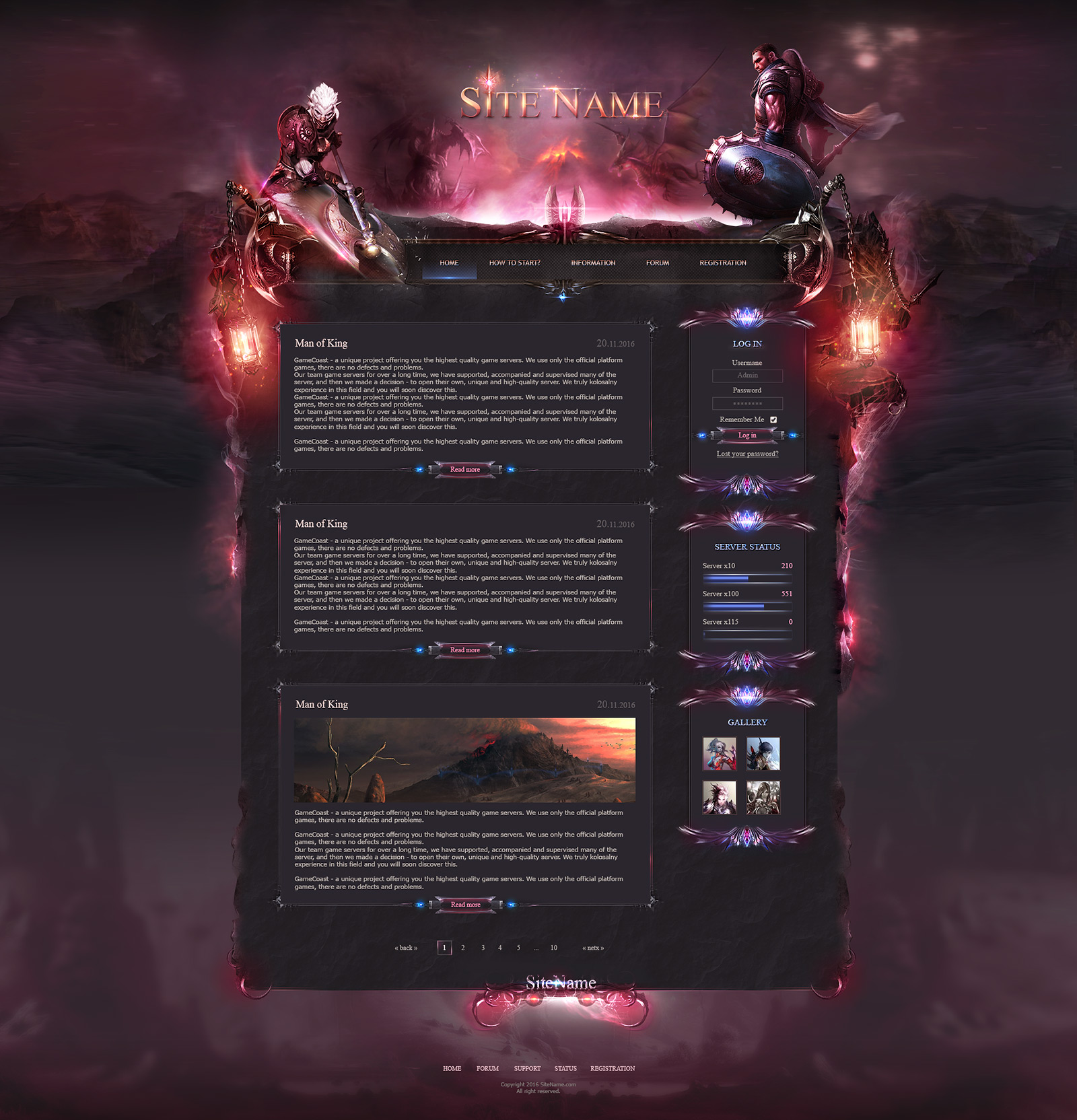 Gaming PSD Themes