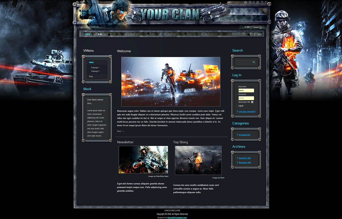 Gaming Website Template Html Css