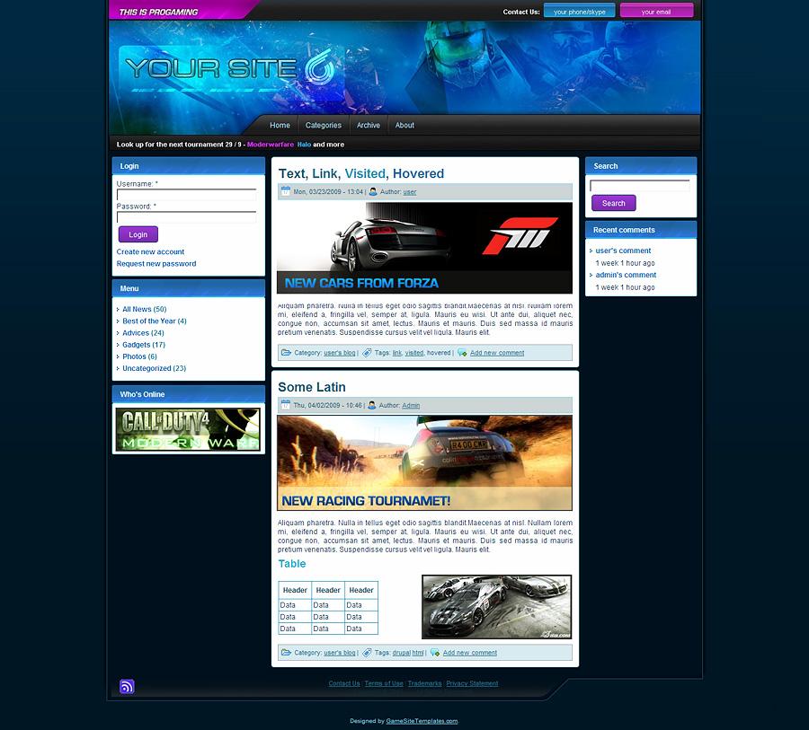 drupal forum theme
