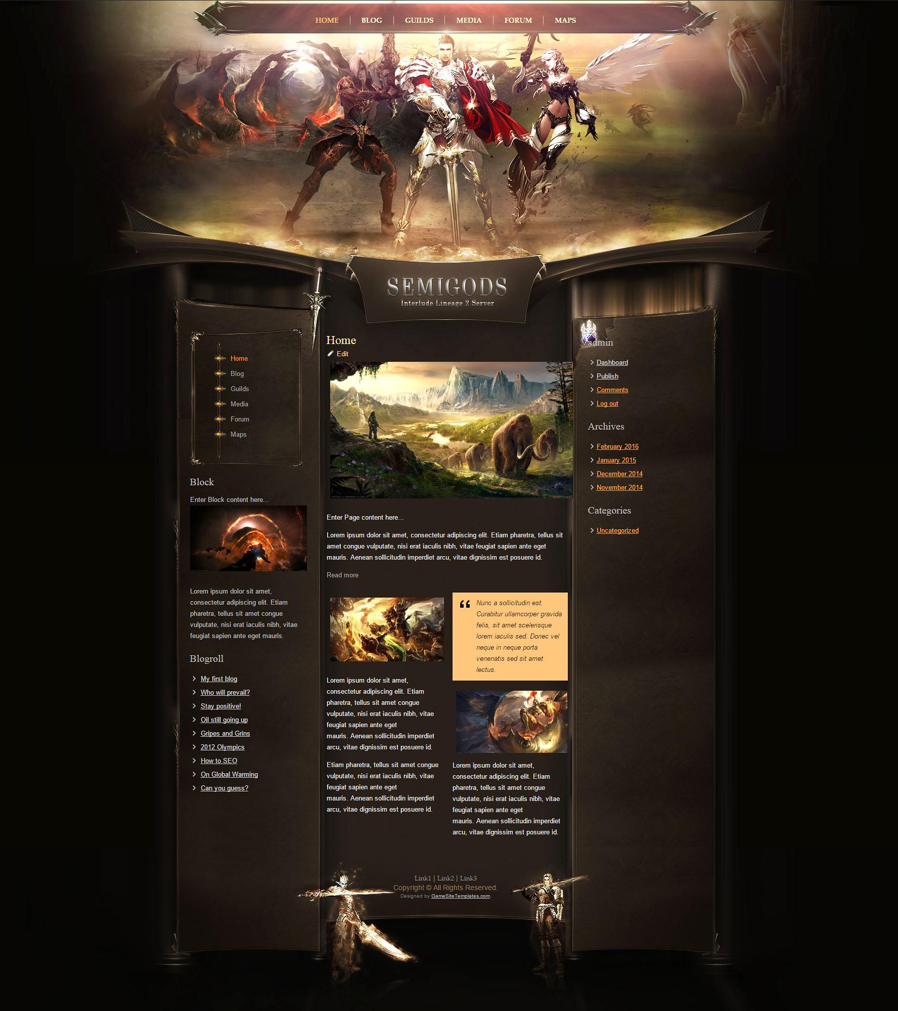 Gods HTML Template