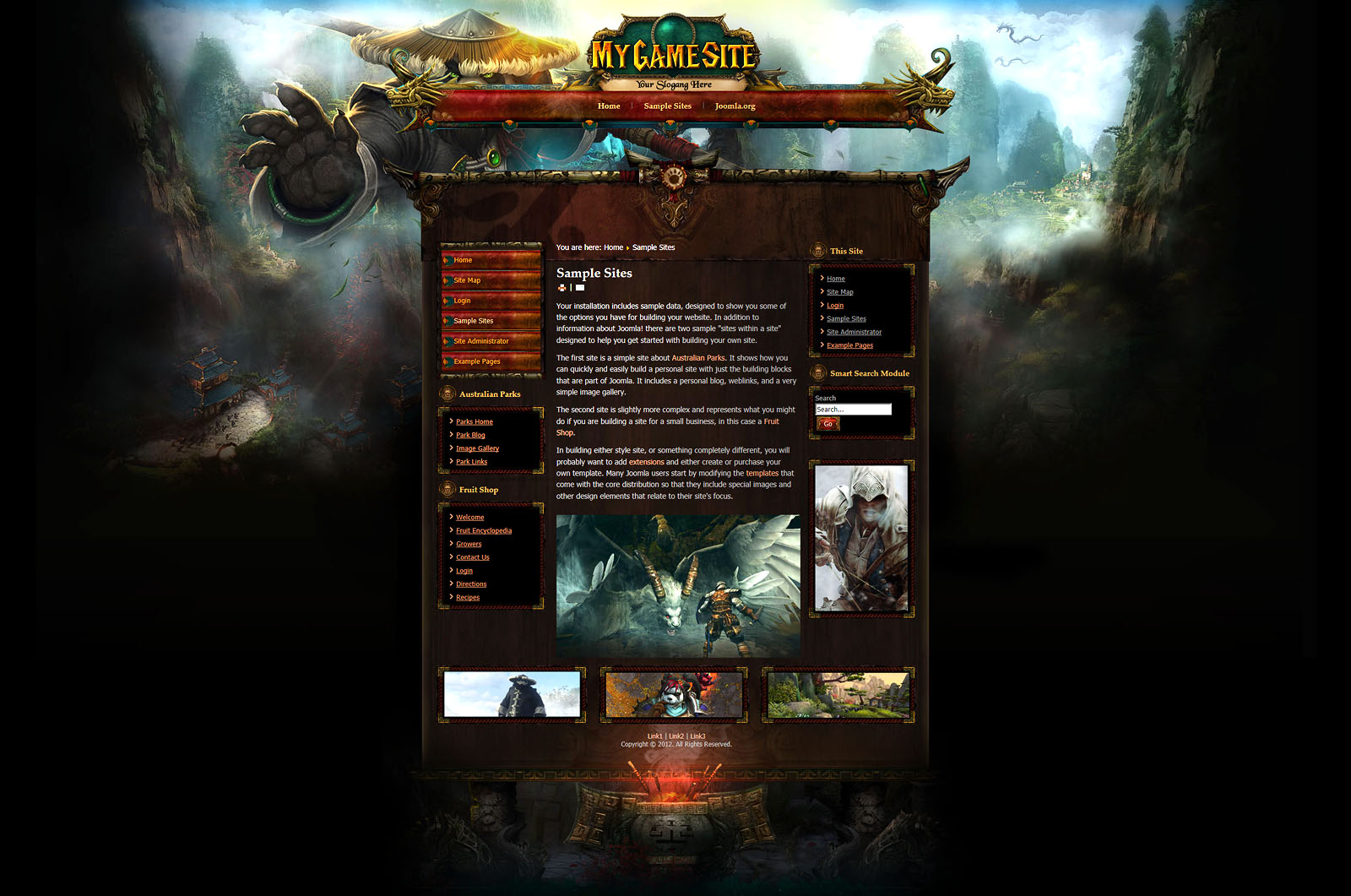 Free Wow Guild Website Templates 2018 11