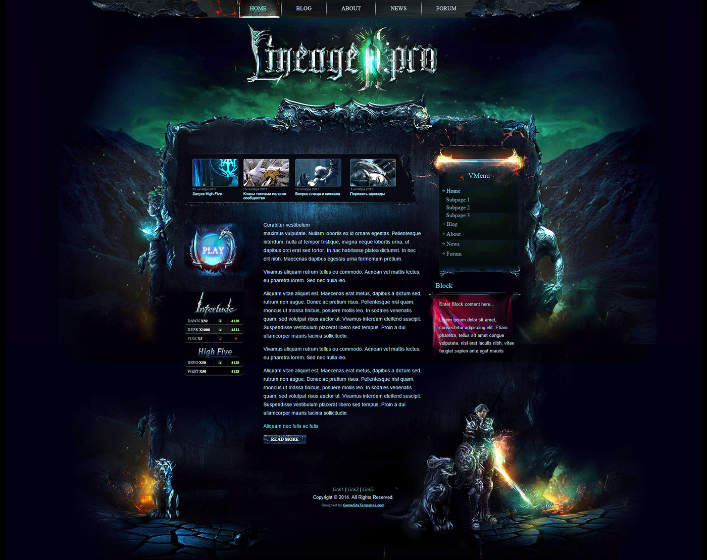 Mystic wordpress theme 3d site