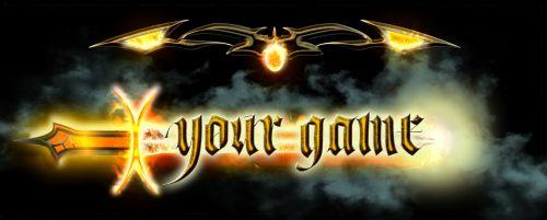 Fantasy sword logo