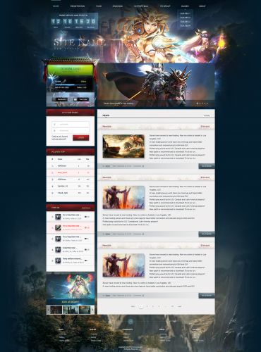 Mu Fantasy Web Template