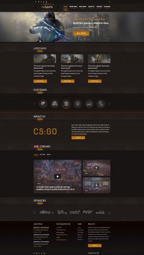 CSGO Web PSD Template