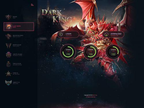 Dark King Game Web Template