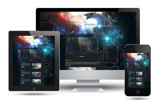 Dragon Game Wordpress Template