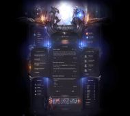 Heroes Online Game HTML Template