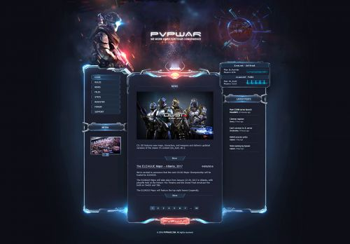 PVP War Web Template