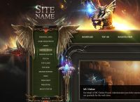 Role Playing PSD Web Template