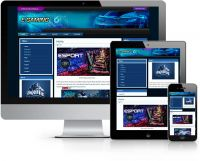 Egamers Wordpress Theme Blue