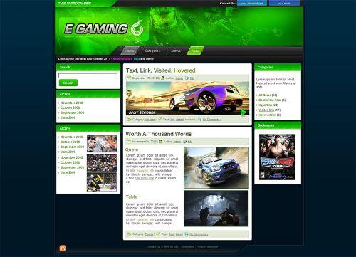 Egamers Wordpress Theme