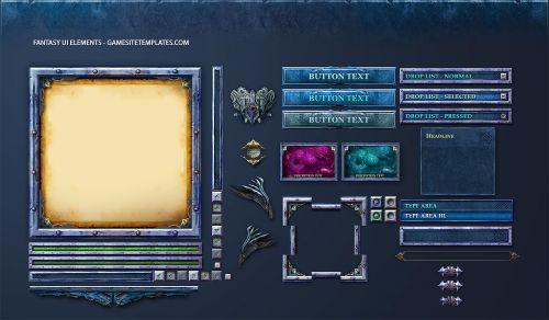 Fantasy Game UI Template