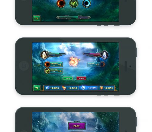 Fantasy Mobile Game UI Template