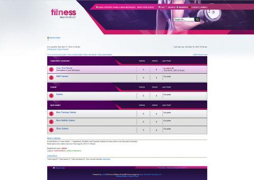 Fitness Forum Skin