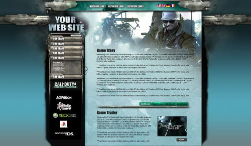 Game Site Design