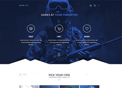 Gamers Esport WebShop Template