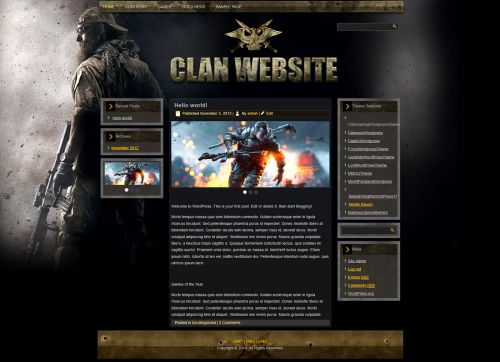 Gaming Clan WP Theme