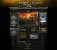 Hammerfall Game Site Interface