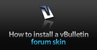How to install your vB forum skin