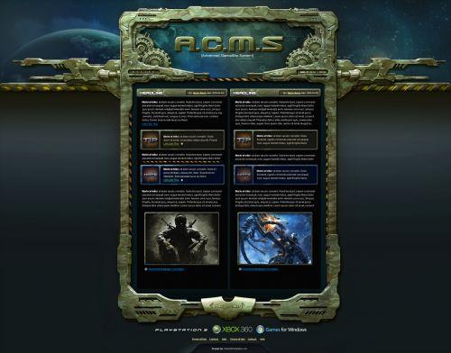 Military GameSite Template