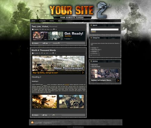 War Wordpress Theme