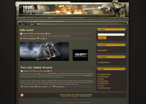 Warfare Wordpress