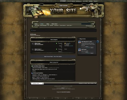 WorldWar Game Forum Skin V4