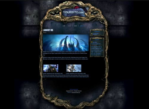 Zerg Alien Wordpress Theme