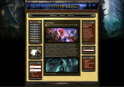 Guild Game Joomla Website