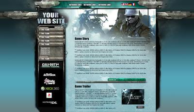 Game Site Design
