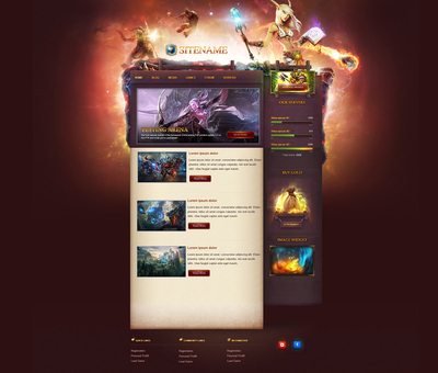 Game Portal HTML Template