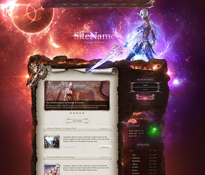Lindvior HighFantasy Web Template