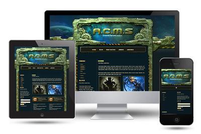 Military Gamesite Wordpress Theme