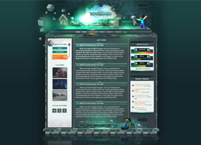 Minecraft Website Template