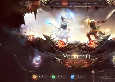 Fantasy World Website Template