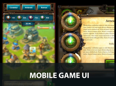 Steampunk Game UI