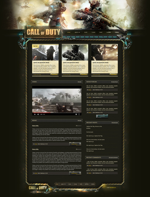 Call of Duty PSD Template