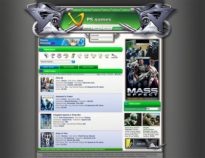 Xbox 360 website design
