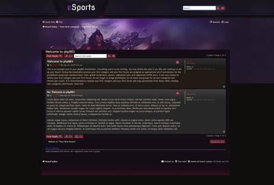 Esport Fans Forum Skin