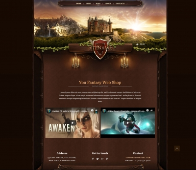 Fantasy Web Shop Template