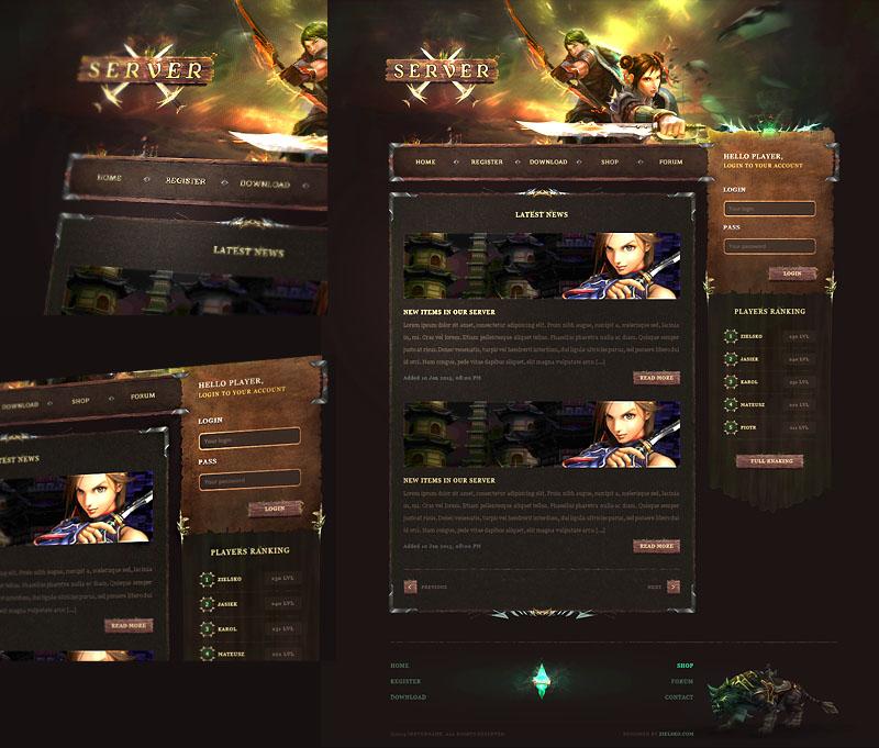 Dark Forest Game Website Template