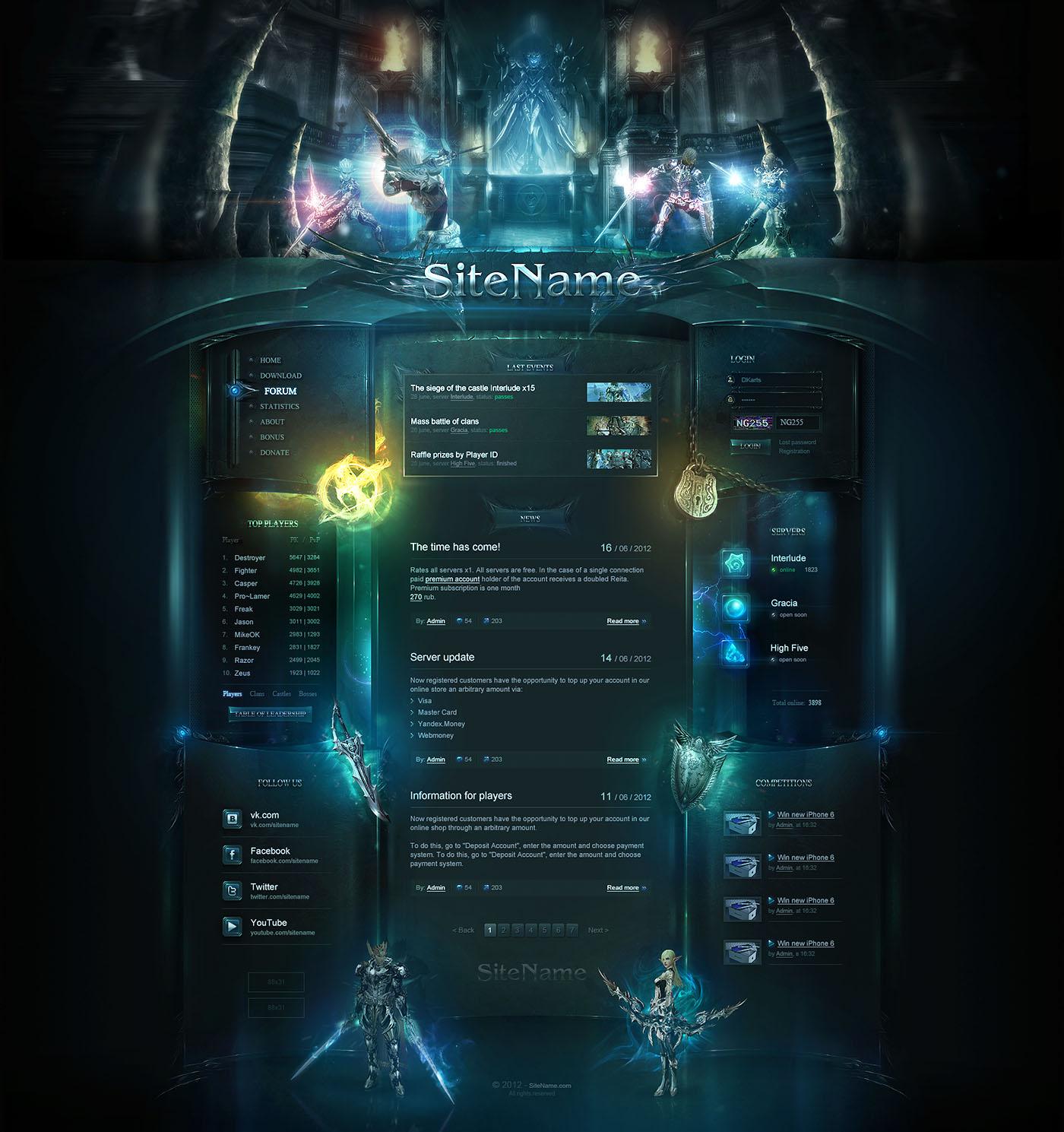 High Fantasy Web Template