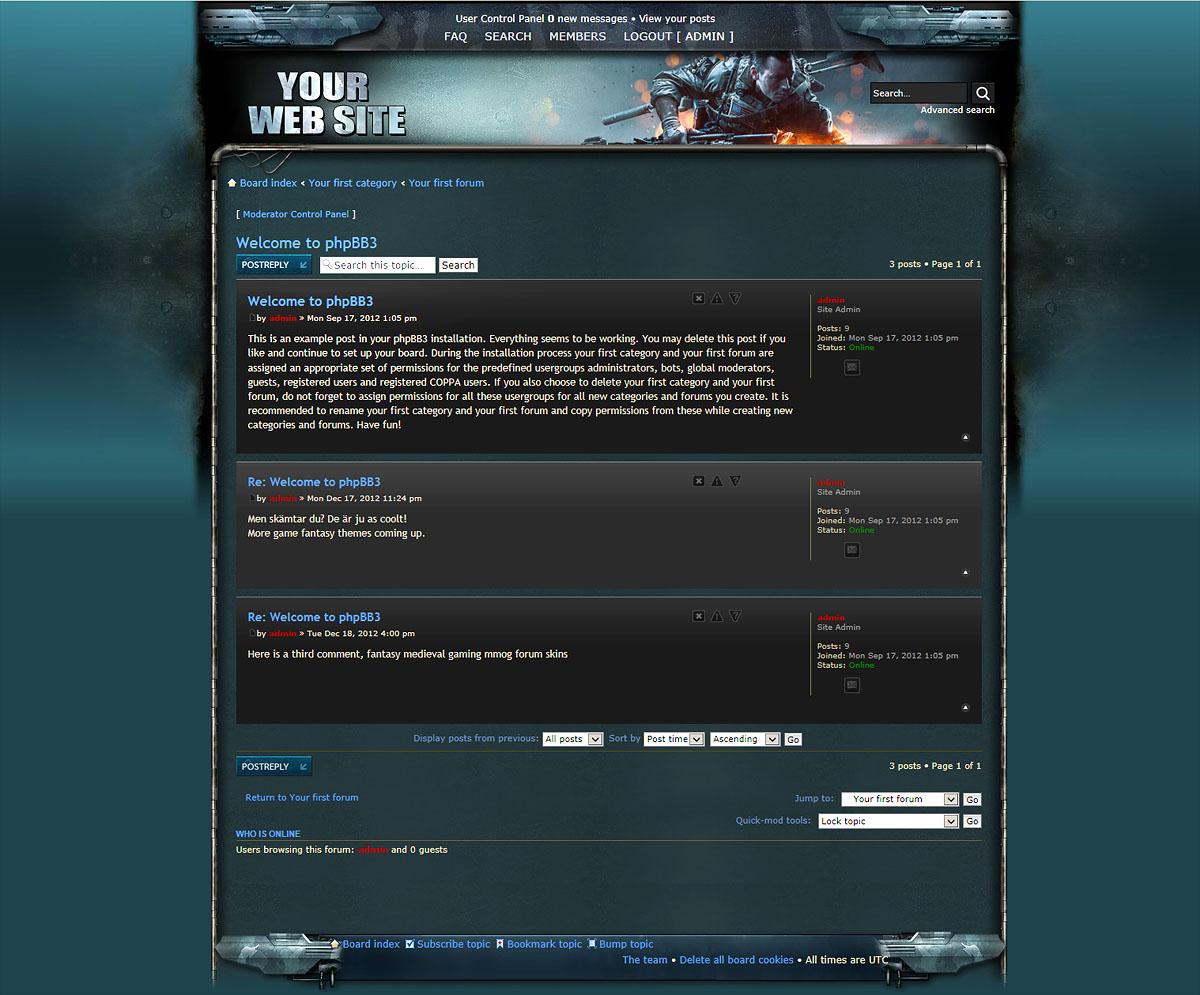 Battlefield Skin PhpBB - Game design forum