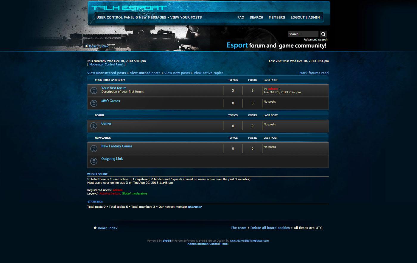 Esport phpbb forum skin maxwellsz