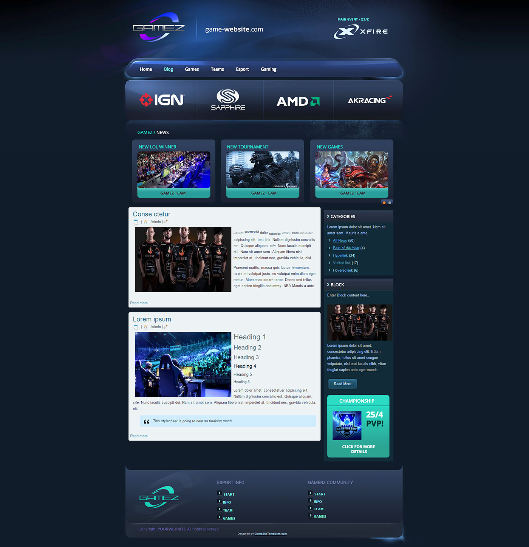 Esport Team HTML Template