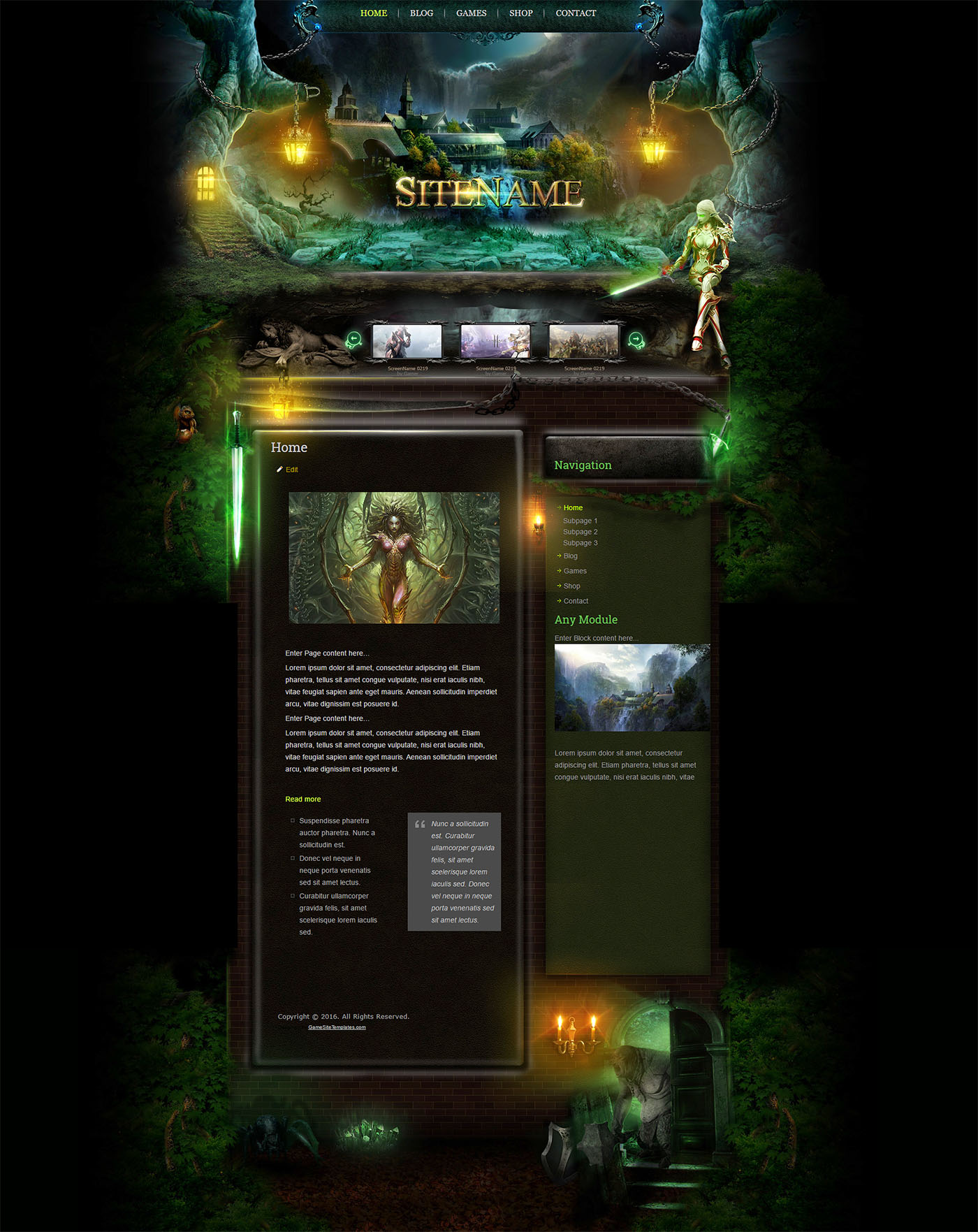 forest wordpress template